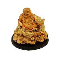 Feng Shui Laughing Buddha with Goodluck Coins