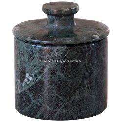 Impressive & Unique Green Marble Jewelry Gift Round Boxes