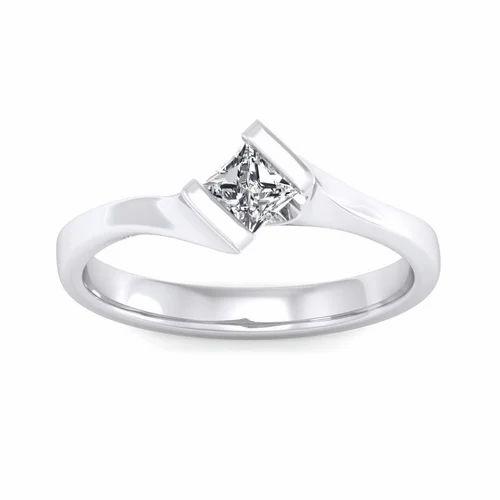 2ecc59336589f Platinum 0.30 Carat Diamond Ring Princess Cut
