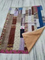 Multi Block Design Vintage Kantha Quilt