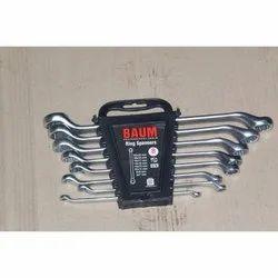 Chrome Vanadium Steel Baum Ring Spanner Sets, Packaging Type: Pack