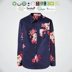 Oeko Tex Certified Ladies Full Sleeve Shirts