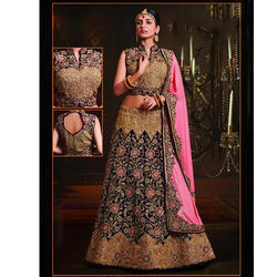 Designer Pink Bridal Lehenga, Sizes: S-XL