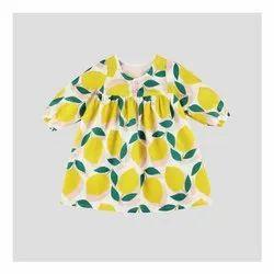 Lemon Printed Baby Girl Dress