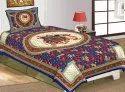 Jaipuri Cotton Single Bedsheet Rajwada Print