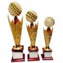 Brass Golden (gold Plated) Football Trophies