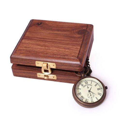 9580c70d6 Brass Designer Pocket Watch With Wooden Box, Rs 1099 /piece | ID ...