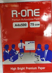 Box White RONE 75 GSM A4, Packaging Size: 500 Sheets per pack