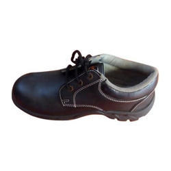 Brown Synthetic Leather Upper Soft Safety Shoes