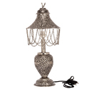 Bharat Handicrafts White Metal Silver Plated Table Lamp
