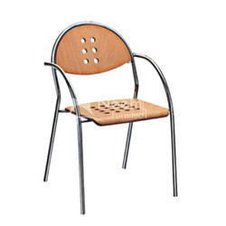 Neem Furnitech Wood NF-179 Armrest Restaurant Chair