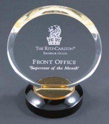 Oval Shape Acrylic Trophy