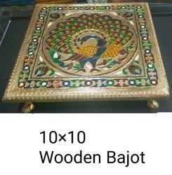 10x10 Inch Meenakari Wooden Bajot