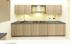 Abruzzo Autumn And Saffron L-shaped Modular Kitchen, L-shaped ...