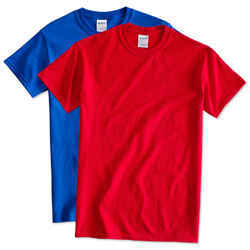 Red Casual Mens Plain T Shirts, Size: Large