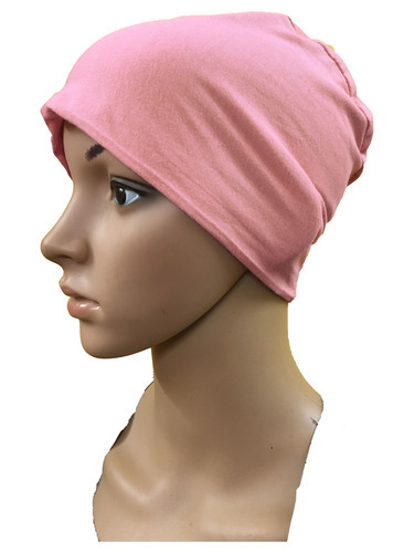 21acc36961a LIGHT PINK COTTON CAPS CHEMO BEANIES CANCER CAPS WOMEN SUMMER CHEMO CAPS  SLEEP TURBAN FOR WOMEN