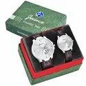 Jainx Silver Dial Day and Date Function Analog Couple Watch JC478