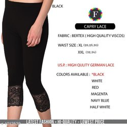 Straight Fit Embroidered Women Legging