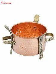 Copper Food Warmer with Brass Pillar