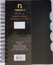 Neeraj Symphony Note Book B5 5 Subject 300 Page (Set Of 4) Black