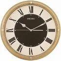 Analog Plastic Seiko Golden Radium Wall Clock, Size: 31 X 31 Cm