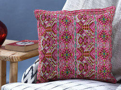 Cotton Cushion Cover With Swati Embroidery Design
