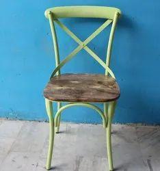 Modern Optional Provincial Cross Back Chair, For Restaurant