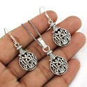Tassel Design 3 Piece Silver Jewelry Set