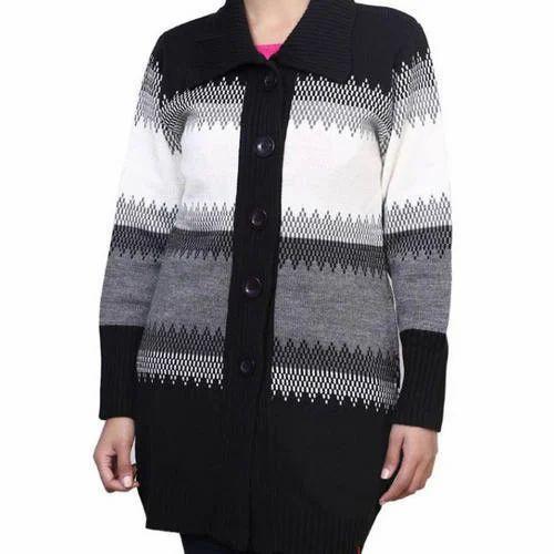 2b8c7445cd4 Full Sleeve Party Wear Ladies Woolen Cardigan