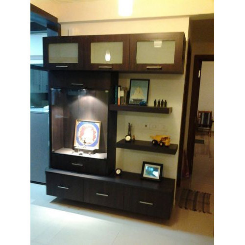 Classic Modular Kitchen Cabinets Rs 18000 Piece: Wooden Temple Room Cabinet, Rs 55000 /piece, Sannidhi