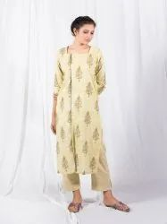 Block Printed Dress,Ethnic Wear Kurti Set