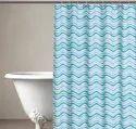 71 x 71 Inch Waves Sea Foam Shower Curtain