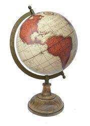 Vintage with Wooden Base World Globe