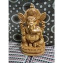 Gifted Wooden Ganesha Statue