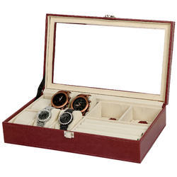 Maroon - 62 Watch & Jewellery Organizer