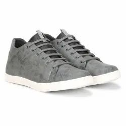 Casual Wear Mens Grey Rexine Shoes, Size: 6-10
