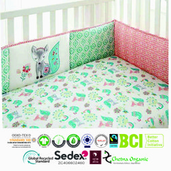 organic baby crib bumper