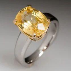 Natural Yellow Sapphire Ring (Pukhraj)