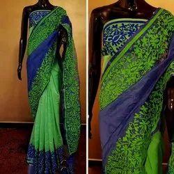 Ladies Party Wear Supernet Saree, With blouse piece, 6.3 m