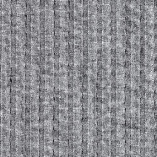 Grey Knitted Rib Fabric, GSM: 200-250