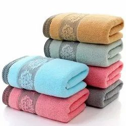 Dyed Towels With Dobby Border
