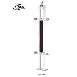 Wooden Rectangle Glass Holding Modular Baluster