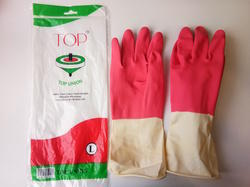 Top Union Two Colour Rubber Gloves