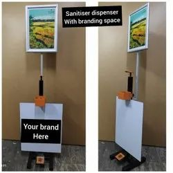 Sanitiser Dispenser Stand with branding