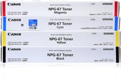 Canon NPG 67 Toner Cartridges Full Set
