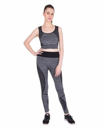 Grey Cotton Gym Wear For Women 26ba3411d
