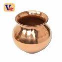 Ashoka Golden Copper Kumkum Lota