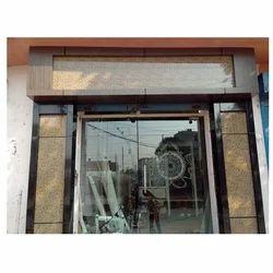 Saint Gobain Hinged Office Front Aluminium Glass Door, Thickness: 10 Mm