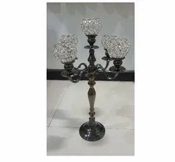 Black Nickel Crystal Candelabra Wedding and Home Decor