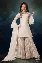 Pure Chanderi Sharara Suits